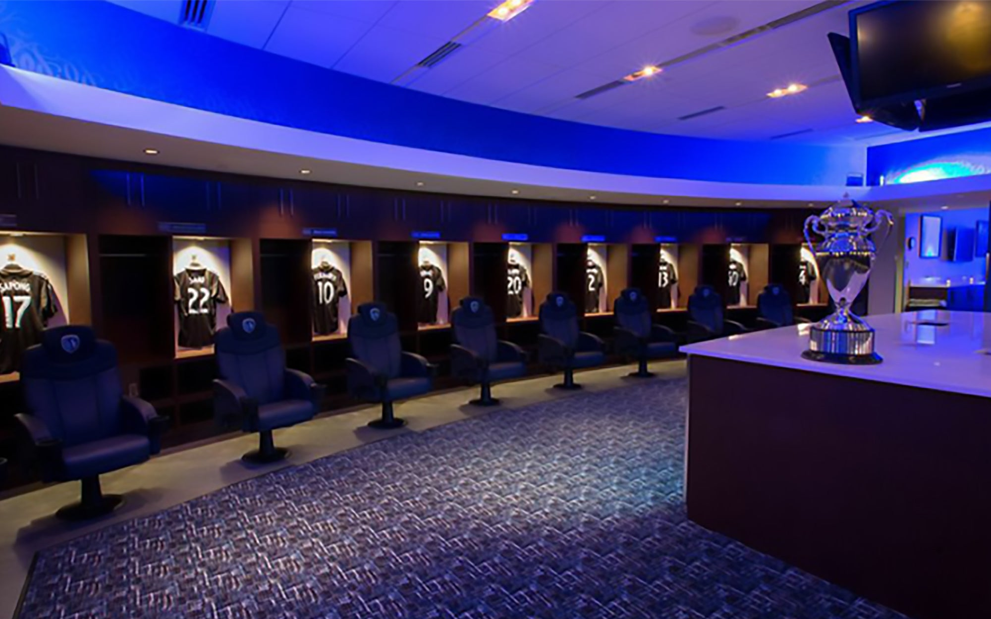 Locker Room & Players Lounge