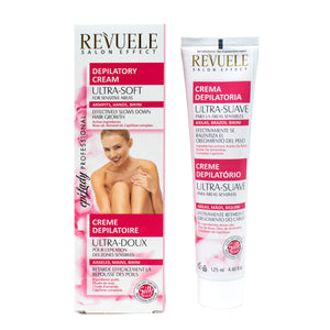 REVUELE Depilatory Cream Ultra-Soft For Sensitive Areas with  Rose oil, Almond oils and CapiSlow complex - districtglitz.com