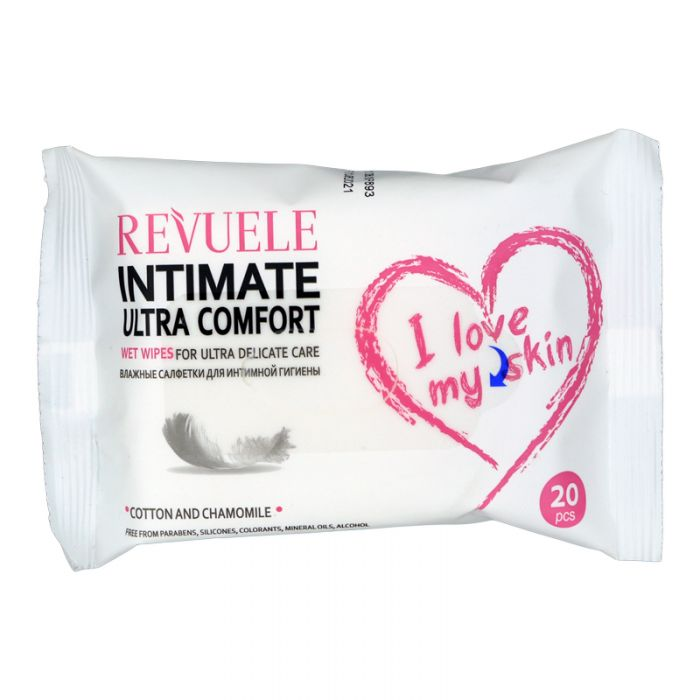 REVUELE Wet wipes IntimateI Love My Skin Ultra Comfort with Cotton and Chamomille - districtglitz.com