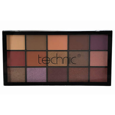 Technic 15 Eyeshadows - PEANUT BUTTER AND JELLY
