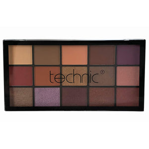 Technic 15 Eyeshadows - PEANUT BUTTER AND JELLY - districtglitz.com