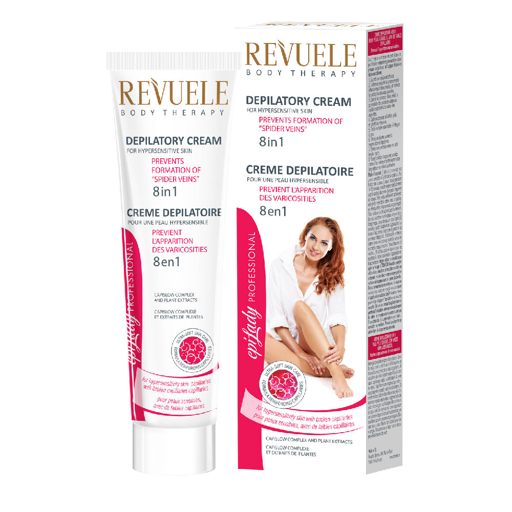 REVUELE Depilatory Cream for Hypersensitive Skin 8in1 With CapiSlow complex & Plant extracts - districtglitz.com
