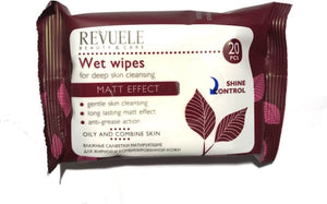 REVUELE Wet wipes for deep skin cleansing matt effect - districtglitz.com