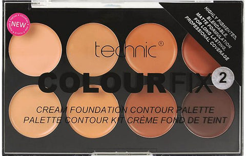 Technic Colour Fix Cream Contouring Foundation Palette No 2 - districtglitz.com