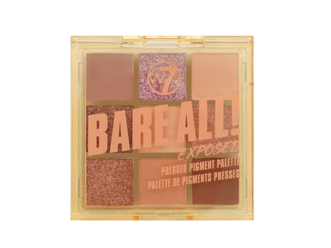 W7 Bare All Pressed Pigment Palette - Exposed - districtglitz.com
