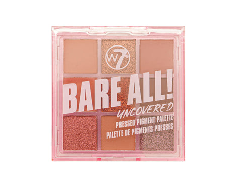 W7 Bare All Pressed Pigment Palette - Uncovered - districtglitz.com