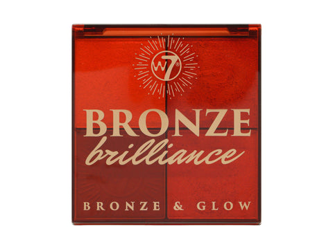 W7 Bronze Brilliance - Light/Medium Bronze & Glow Palette - districtglitz.com