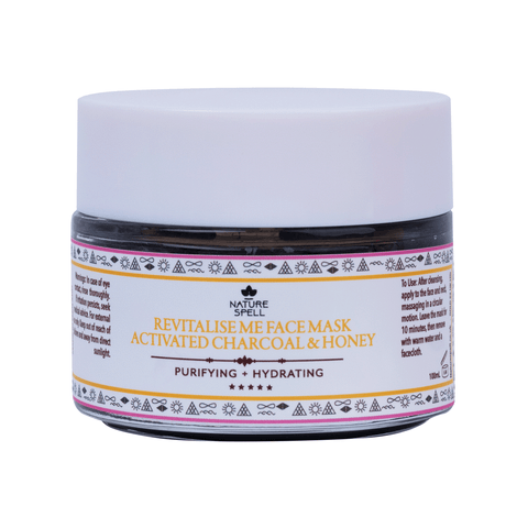 NATURE SPELL Activated Charcoal & Honey Purifying Face Mask