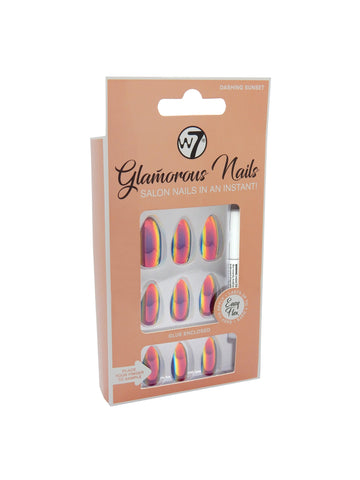 Glamorous Nails Stick On Nails - Dashing Sunset - districtglitz.com