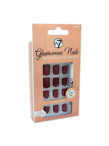 Glamorous Nails Stick On Nails - Garnet - districtglitz.com