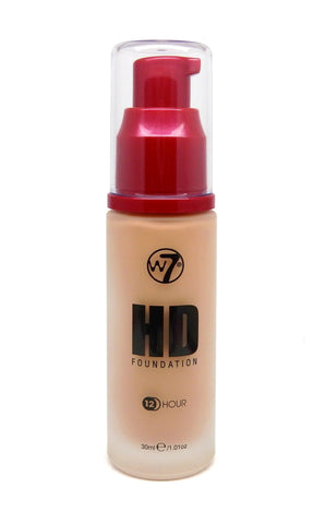 W7 HD Pump Foundation 30 ml - Natural Beige - districtglitz.com