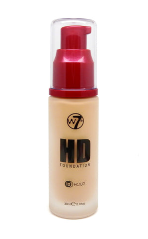 W7 HD Pump Foundation 30 ml - Fresh Beige - districtglitz.com