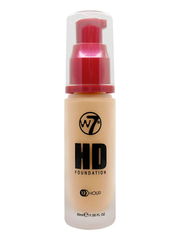 W7 HD Pump Foundation 30ml - Honey - districtglitz.com