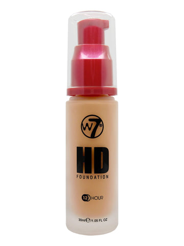 W7 HD Pump Foundation 30ml - Tan - districtglitz.com