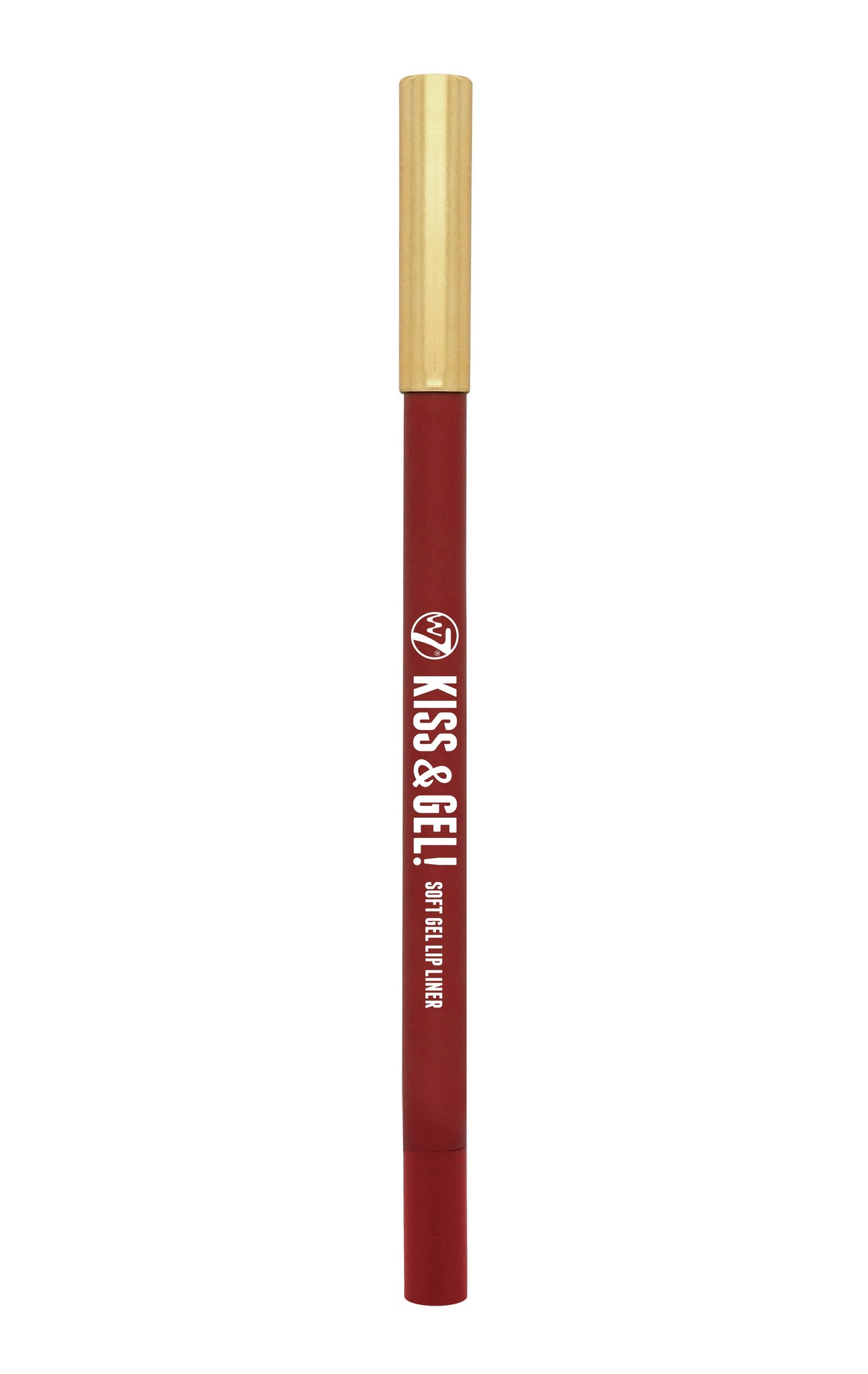 W7 Kiss & Gel! Soft Gel Lip Liner Red - districtglitz.com