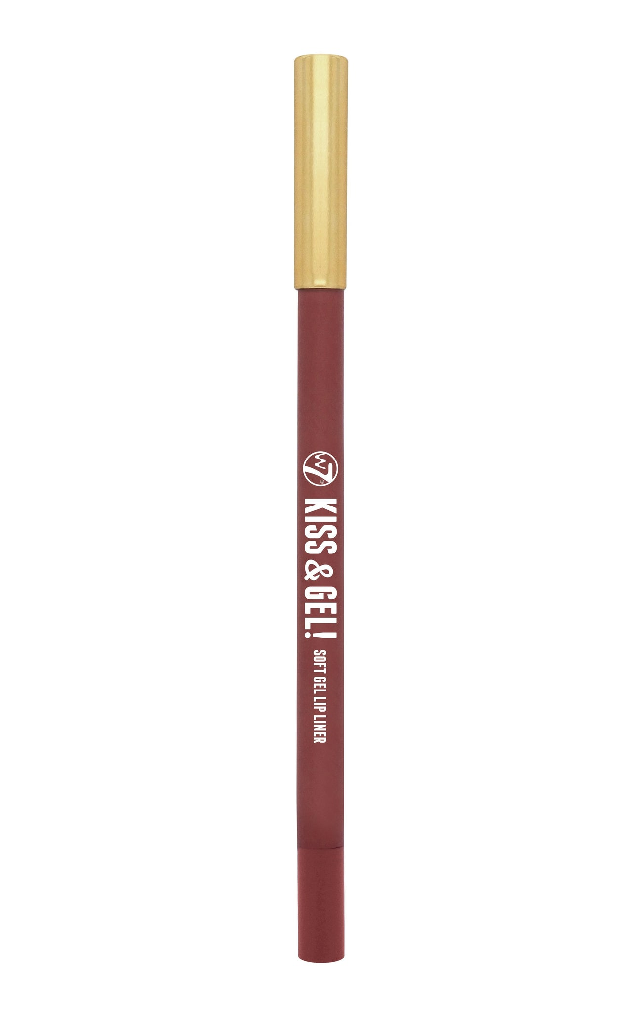 W7 Kiss & Gel! Soft Gel Lip Liner Rose - districtglitz.com