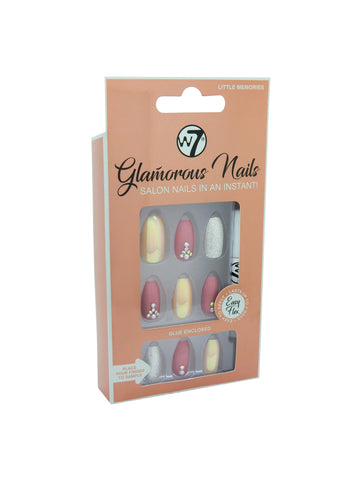 Glamorous Nails Stick On Nails - Little Memories - districtglitz.com