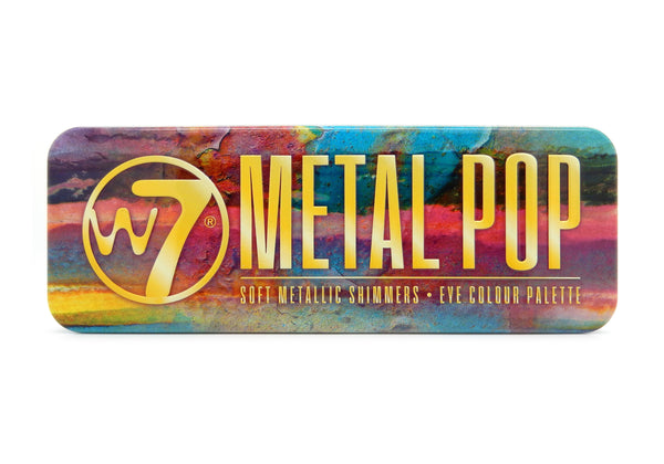 W7 Metal Pop - Metallic Shimmers Eye Colour Tin - districtglitz.com