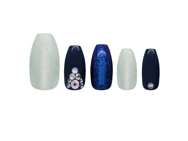 Glamorous Nails Stick On Nails - Midnight Dream - districtglitz.com