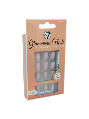 Glamorous Nails Stick On Nails - Pink Beige - districtglitz.com