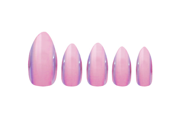 Glamorous Nails Stick On Nails - Pink Bell - districtglitz.com