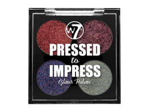W7 Pressed to Impress Glitter Palette All The Rage - districtglitz.com