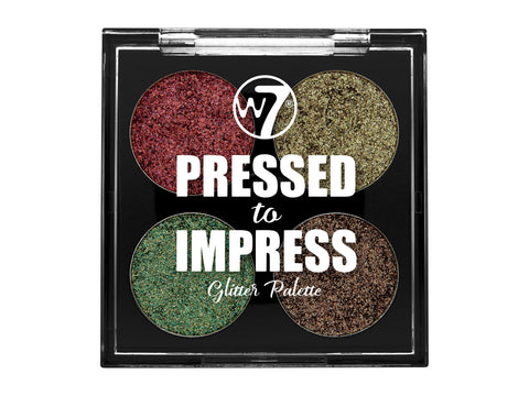 W7 Pressed to Impress Glitter Palette In Vogue - districtglitz.com