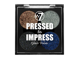 W7 Pressed to Impress Glitter Palette Style Icon - districtglitz.com