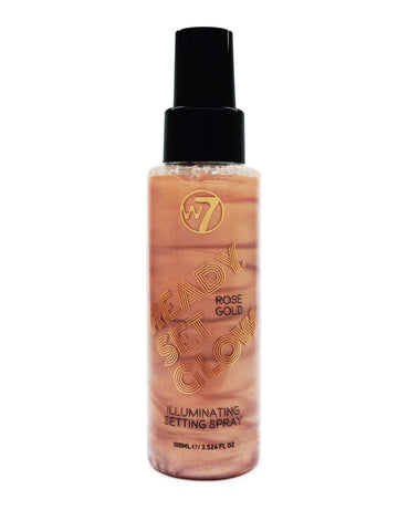 W7 Ready/Set/Glow - Illuminating Setting Spray 100ml Rose Gold - districtglitz.com