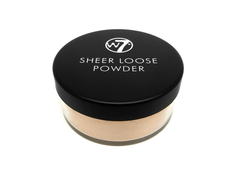 W7 Sheer Loose Powder Natural Beige - districtglitz.com