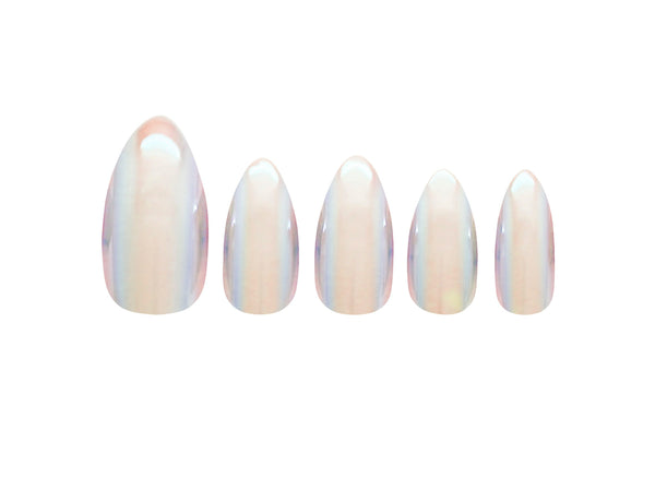 Glamorous Nails Stick On Nails - Shiny Pearl - districtglitz.com