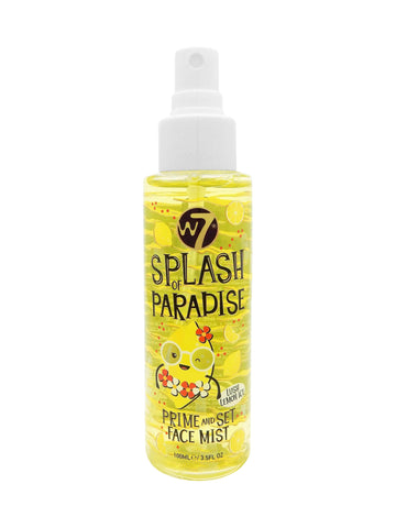 W7 Splash of Paradise - Prime and Set Face Mist Lush Lemon Ice - districtglitz.com