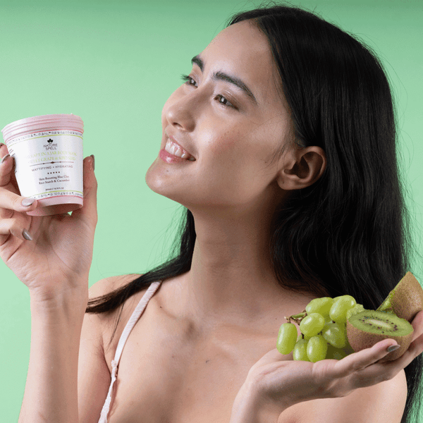 NATURE SPELL Therapy in a Jar Sweet Grape & Kiwi Seed Body Mask