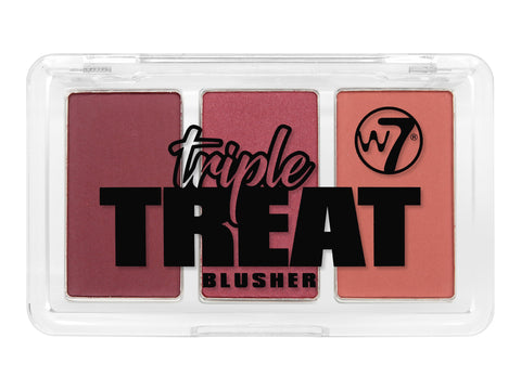 W7 Triple Treat Blusher Ready-Set-Go - districtglitz.com