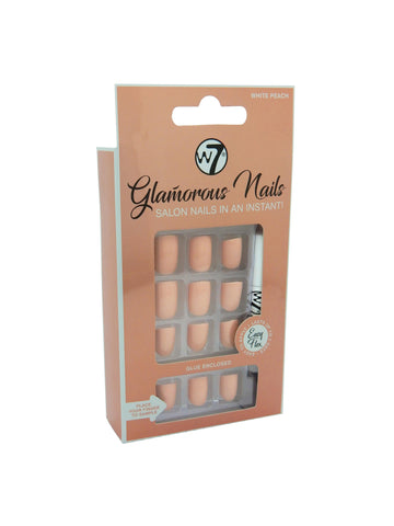 Glamorous Nails Stick On Nails - White Peach - districtglitz.com