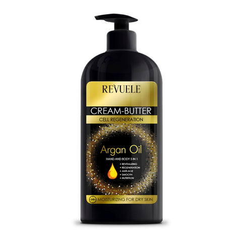 REVUELE ARGAN OIL Cream-Butter Hand & Body 5 in 1 - districtglitz.com