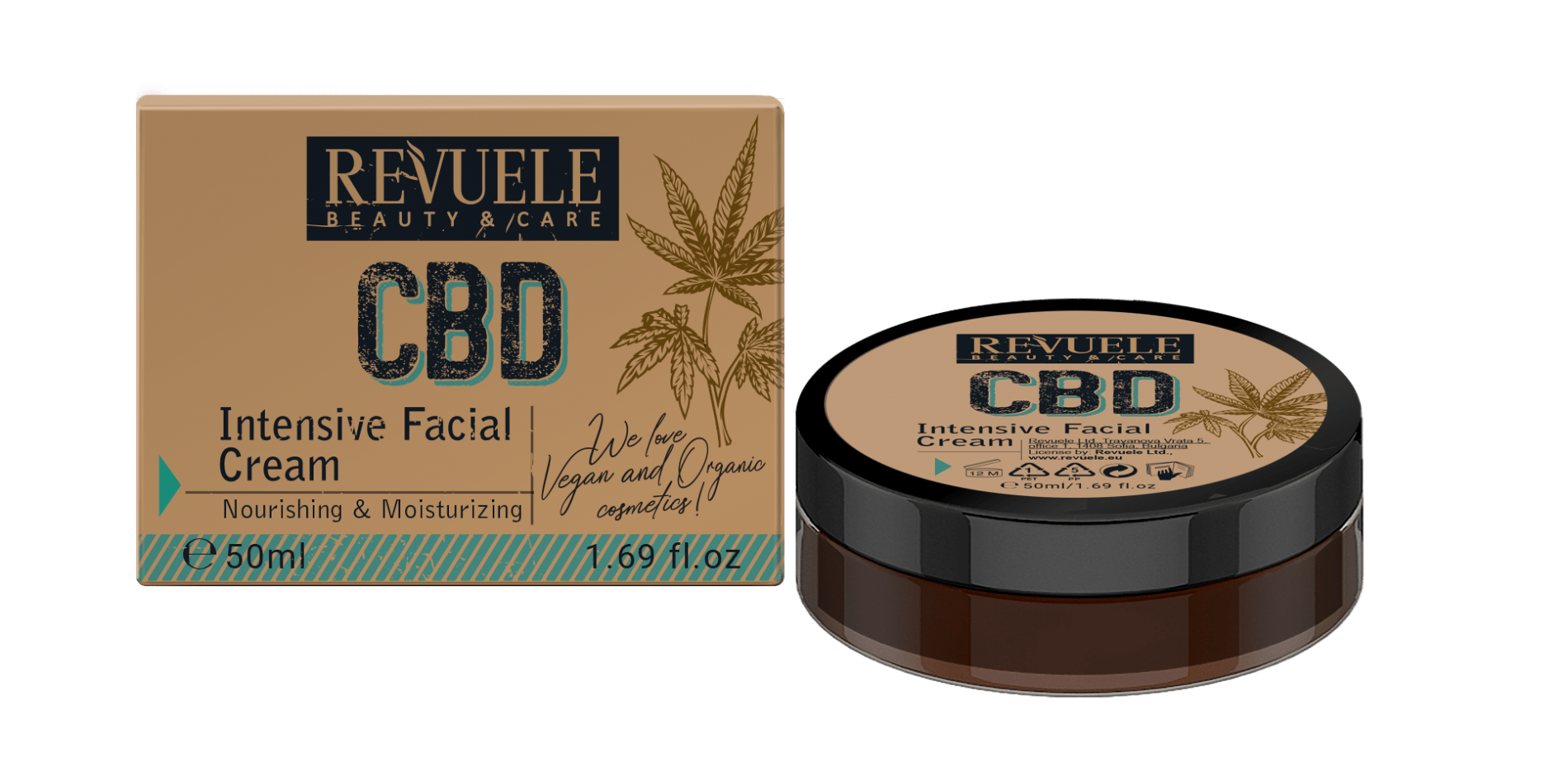 REVUELE CBD Intensive Facial Cream - districtglitz.com