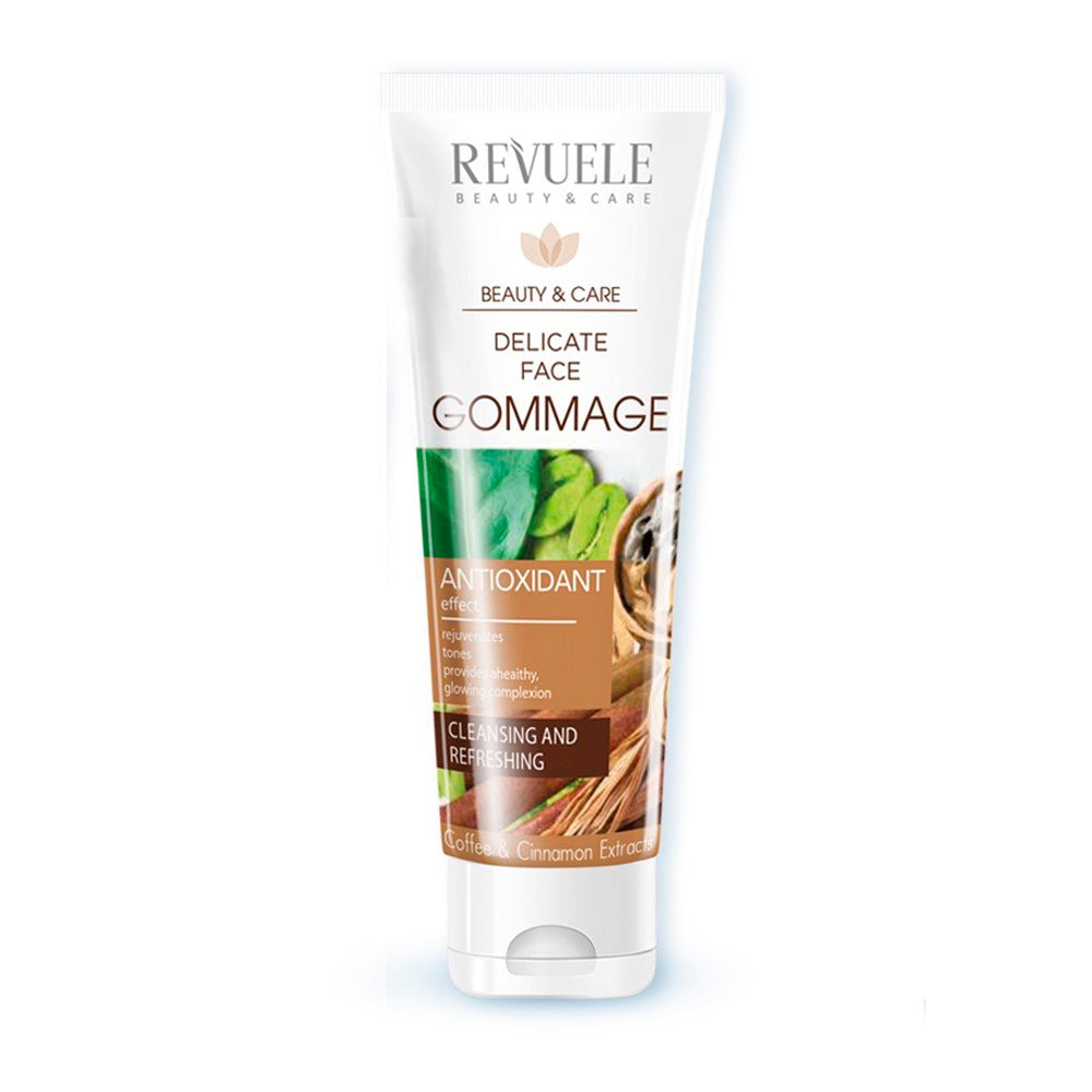 REVUELE Delicate Face Gommage With Caffeine, Cosmetic Clay & Cinnamon Extract - districtglitz.com