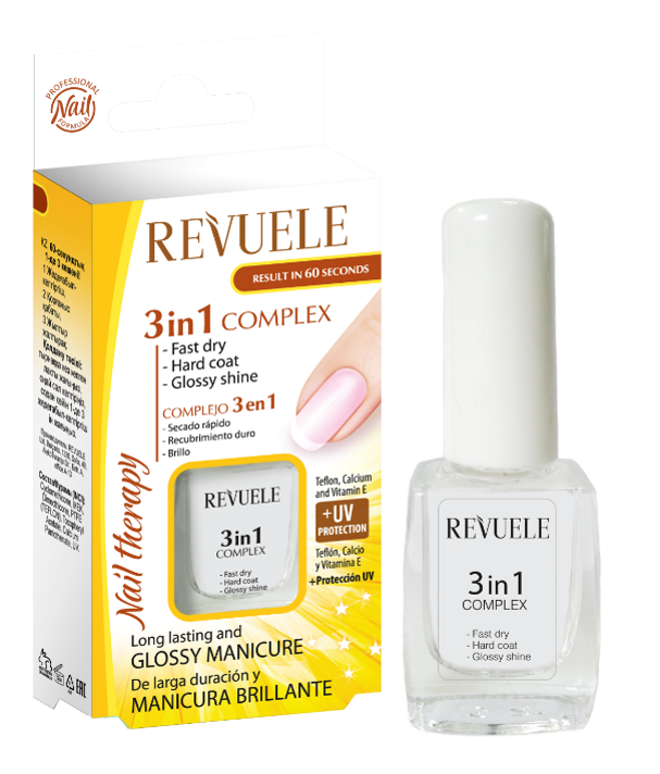 Revuele Express Drying, Protective Coating, Glossy Shine 3-in-1 Complex - districtglitz.com
