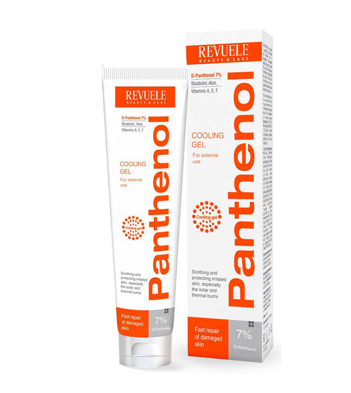 REVUELE Panthenol Cooling Gel for solar and thermal burns - districtglitz.com