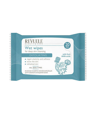 REVUELE Wet wipes for deep skin cleansing Exfoliating