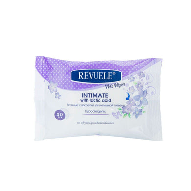 REVUELE Wet wipes Intimate Hypoallergenic with lactic acid