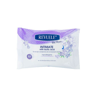 REVUELE Wet wipes Intimate Hypoallergenic with lactic acid - districtglitz.com