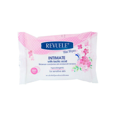 REVUELE Wet wipes Intimate for sensitive skin with lactic acid