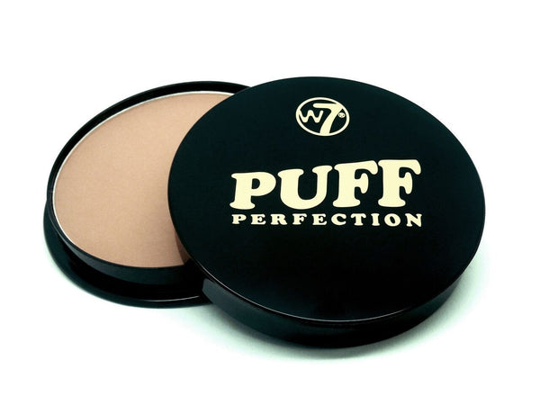 W7 Puff Perfection Face Powder - Medium Beige - districtglitz.com