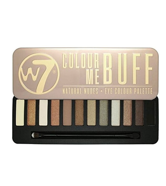 W7 Colour Me Buff - Natural Nudes Eye Colour Tin - districtglitz.com