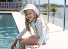 Load image into Gallery viewer, Blue Posy - Matching Bundle & Save (Swimsuit, Hat & Scrunchie)