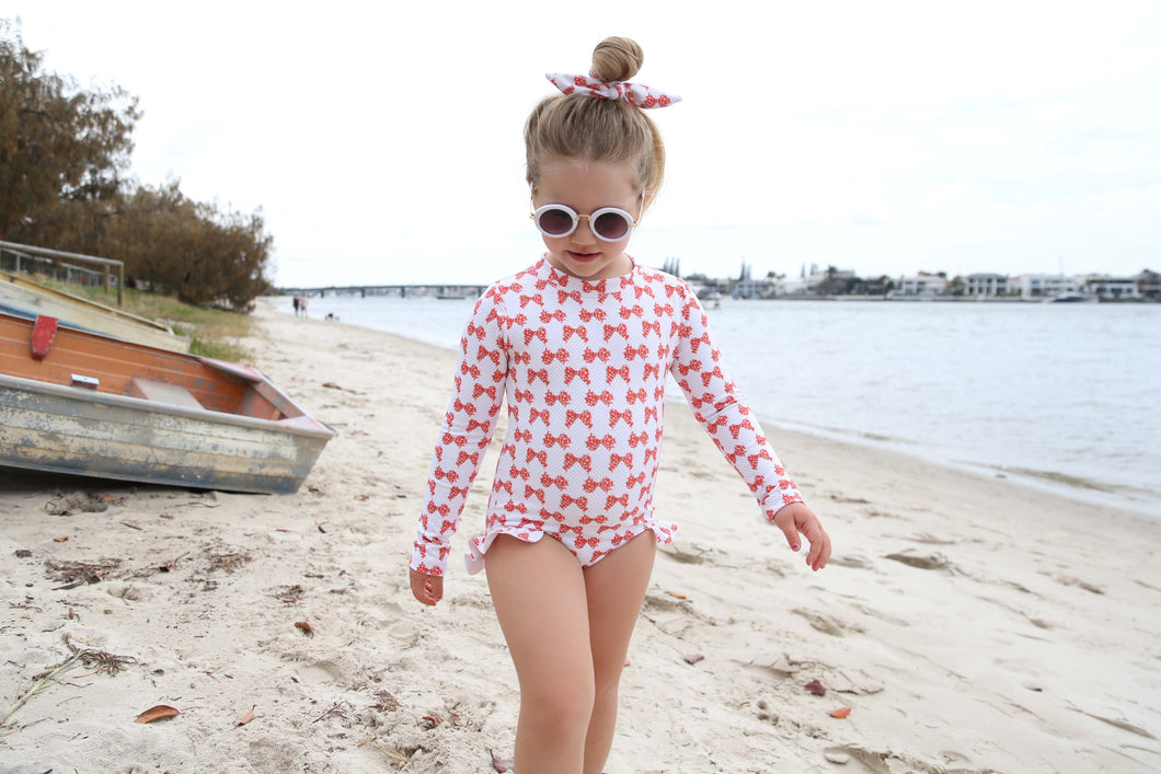 Penelope One Piece in Gingham Bows