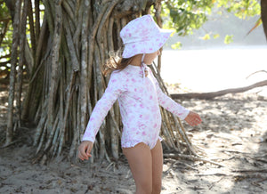Signature Sun Hat in Peony Splash