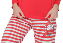 Load image into Gallery viewer, Pijama dama din bumbac model CACIUN PINGUINmaneca lunga si pantalon lung
